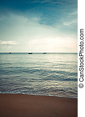 Beach in Khao Lak, Thailand - travel and tourism.