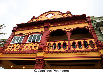 Historical building. - Exterior of a historical building in...