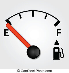 Gas Tank Illustration - Empty gas tank illustration on a...
