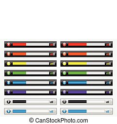 Media Player Template - Colorful media player template