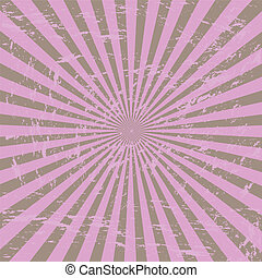 Grunge Sunburst - Grunge purple sunburst
