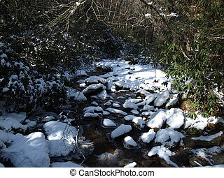 Creekbed - View along the Jacobs Fork River at South...
