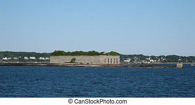 Fort Gorges in Casco Bay - Fort Gorges is on Hog Island...