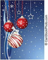 Merry Christmas, 2011, on the blue background