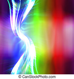 Rainbow Plasma Fractal Layout - A glowing fractal design...