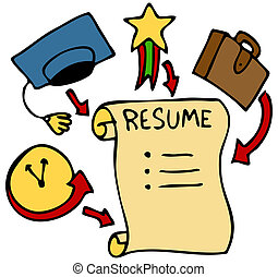 Resume Categories - An image of a resume history, education,...