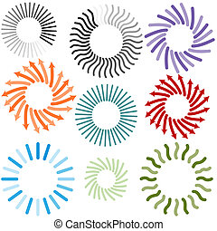 Processing Icon Set - An image of a connecting process icon...