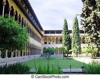 Abbey cloister and garden