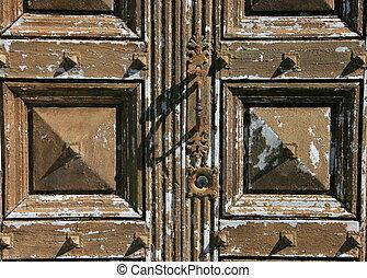 French Door - Wood door texture