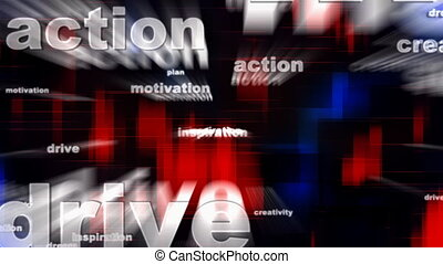 Motivational Words Background - Motivational Words Looping...