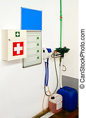 First Aid Kit - First Aid Station for medical emergency in...