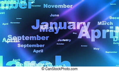 Months of The Year Background Loop - Looping Months of the...