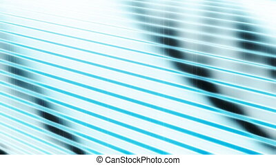 Abstract Lines in Blue Loop