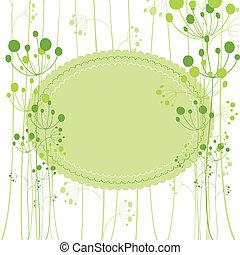 Springtime green dandelion