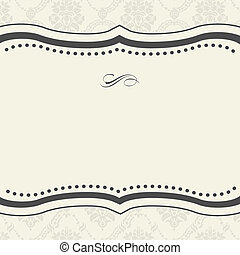 Vector Ornate Frame and Background