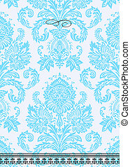 Vector Damask Ornate Background