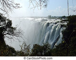 Victoria Falls in Zambian side - Great Victoria Falls in...
