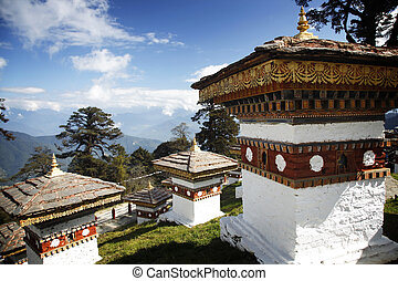 Overlooking the himalayas - 108 stupas overlooking the...