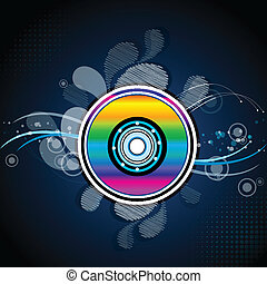 colorful compact disc - illustration of colorful compact...