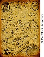 vintage map USA