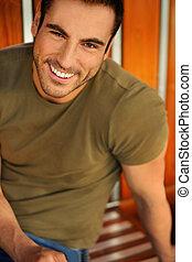 Smiling good looking man
