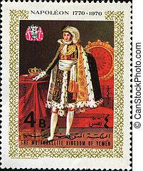 Napoleon - YEMEN - CIRCA 1970: A stamp printed in Yemen...