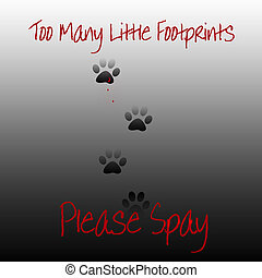 spay please - feral cat footprints please spay poster...