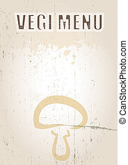 Vegi Menu - A portrait format image of a menu cover or menu...