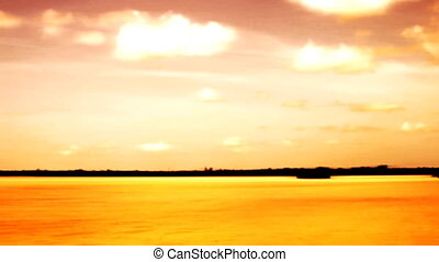 Sunset Mangrove Islands Tropics - Color Enhanced Sunset...