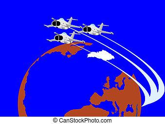 Fighter flight