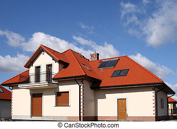 House with solar panels - Beautiful new home with solar...
