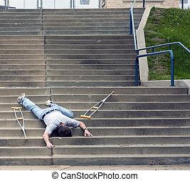 caído, Escaleras