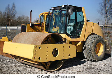 Roadroller - Heavy industrial machinery Construction...