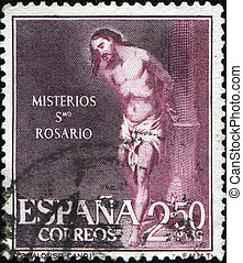 Alonso Cano - Mysteries St Rosario - SPAIN - CIRCA 1962: A...