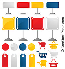 Icons of sales3 - Icons on a theme shop and sales. A vector...