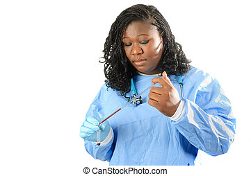young african american nurse