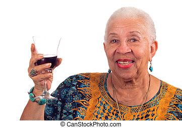 african american woman - Elderly African American woman...