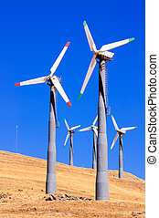 Alternate energy power source wind generator farm in...