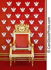 Throne of Polish king - Royal castle in Warsaw on World...