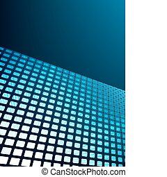 Blue waveform vector background. EPS 8