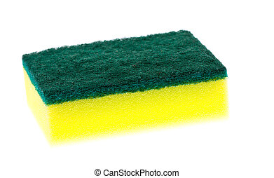 Colorful new clean scrubber pad or scourer. - A new, clean...