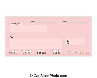 dollar cheque - Vector illustration of dollar cheque with...