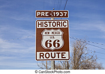 Historic Route 66 New Mexico Sign Pre-1937