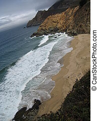 California Beach - Isolated Beach in Californian Coast