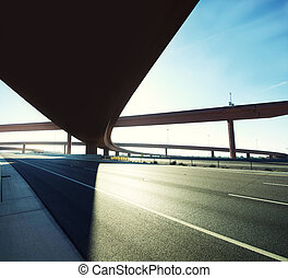 Highway overpass in color