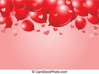 Falling Red valentine Balloons