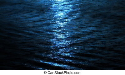 Moon Light on The Blue Ocean