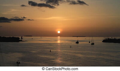 Setting Sun Key West Florida - Florida Keys Sunset