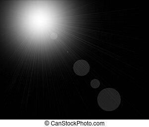 Black background - Black shining illustration
