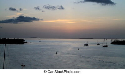 Dusk on the water Key West Florida - Key West Florida at...